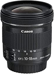 Canon EF-S 10-18mm f/4.5-5.6 IS STM Lens, Black