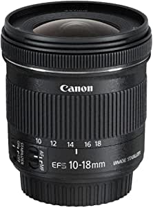 Canon EF-S10-18 mm f/4.5-5.6 IS STM Lens - Black