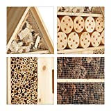 Relaxdays Insektenhotel XL stehend, Nisthilfe für Bienen, Florfliegen, Marienkäfer, Holz HxBxT: 79 x 39 x 13 cm, natur - 4