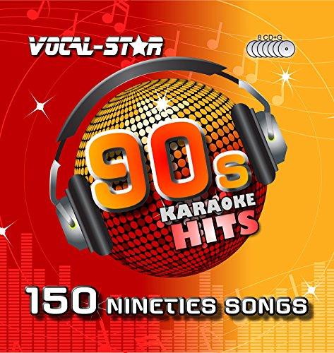 Vocal-Star 90er Jahre Karaoke CD CDG Disc Pack 8 CDs 150 Lieder