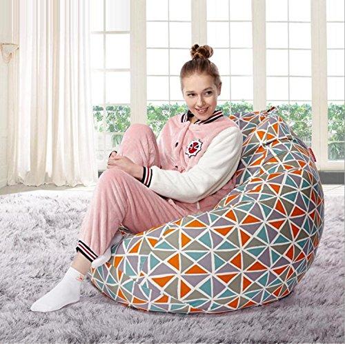 bean bag en toile de coton canapé-lit paresseux liberté créative pour ajuster la posture décontractée matériau imperméable est doux et confortable , 4 3