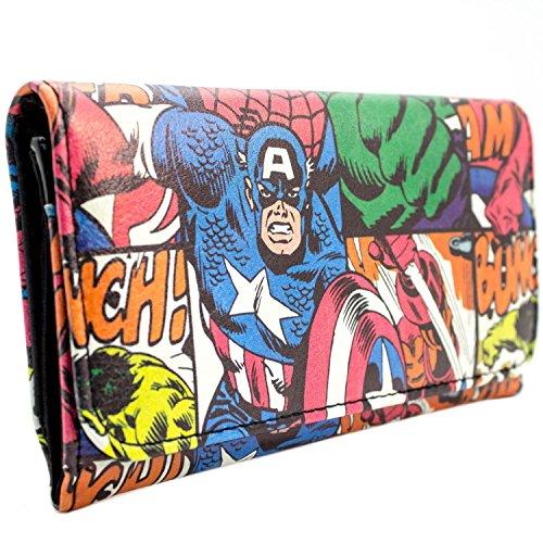 Marvel Captain America Retro Comic Rot Portemonnaie Geldbörse