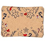 25 Stück Geschenkaufkleber Weihnachten Namensaufkleber Aufkleber Geschenke weihnachtlich ROT natur SCHWARZ 7 x 5 cm Kraftpapier Sticker Namens-Etiketten