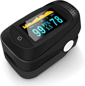 Fitness Activity Tracker Monitor Real-time Tracker Monitor Bright OLED Screen Data Record /& Analysis 3 Pack, Black Arozk Fingertip SpO2 Counter Body Health Monitor Audio Alarm