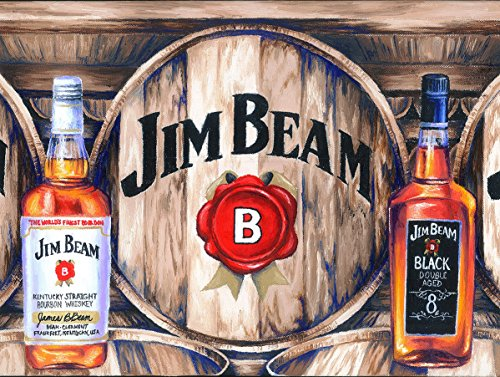 Jim Beam Retro Metall Art Blechschild Wandschild/NEUHEIT GESCHENK (Vintage Retro Zeichen)