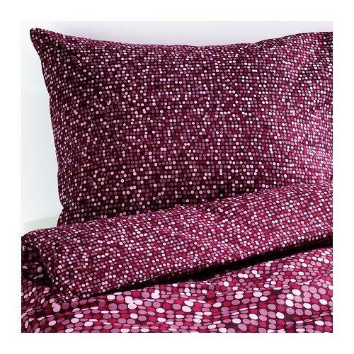 IKEA SMÖRBOLL Bettwäscheset in dunkelrosa; 2tlg.; (140x200cm und 80x80cm)
