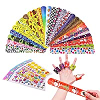 beheart Slap Bands 76 Pcs Snap Bands for Kids Party Bag Pack Slap Bracelets with Colorful Hearts Animal Perfect for Birthday Christmas School Party