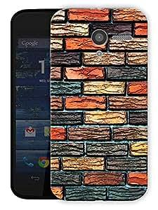 "Humor Gang Bricks Pattern Printed Designer Mobile Back Cover For ""Motorola Moto X"" (3D, Matte Finish, Premium Quality, Protective Snap On Slim Hard Phone Case, Multi Color)"