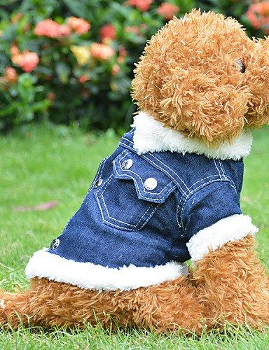 ZPP-Cane vestiti morbido rivestimento di indumenti di cotone Camicia cane ZPP-Cane vestiti morbido rivestimento di indumenti di cotone Camicia cane Cappotti per cani blu primavera/autunno S / M / L / XL cotone , blu-xl , blu-xl
