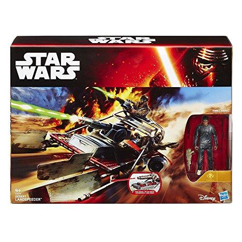 Finn Jakku Wüsten Landspeeder - Star Wars Spielzeug Spielset - Force Awakens Actionfigur Fahrzeug (Wars Star Fahrzeuge Spielzeug)
