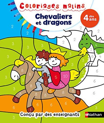 Coloriages malins Chevaliers et dragons - Dès 4 ans par Mariana VIDAL