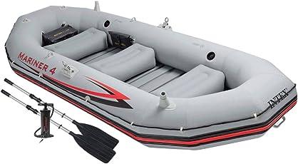 Intex Schlauchboot Boot Mariner 4 Set Phthalates Free Inkl. Paddel und Luftpumpe - Professional Series, 68376np
