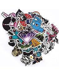 150pcs aléatoire en Motif pare-chocs Cool Sticker en vinyle pour ordinateur portable, chambre, étui de voyage, voiture, Bagages, vélo, vélo, Skateboard, snowboard, PS4, XBOXONE. (Lot de 150)