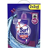 Surf Excel Matic Front Load Liquid Detergent Carton, Specially Designed For 100% Tough Stain Removal In Front Load Machines,