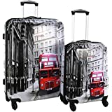 Swiss Case 4 Wheel Spinner 2Pc Strong ABS Suitcase / Luggage Set