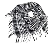 YEBIRAL Unisex Damen Männer Schal Mode Kariert übergroßer Tücher Tuch Schal Halstuch(Schwarz)