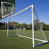 QUICKPLAY Q-Fold   Das faltbare, innerhalb von 30 Sekunden aufstellbare Fußballtor für den Garten [Einzeltor] Das beste wetterfeste Fußballnetz für Kinder und Erwachsene - 2 JAHRE GARANTIE - NEU IN 2018