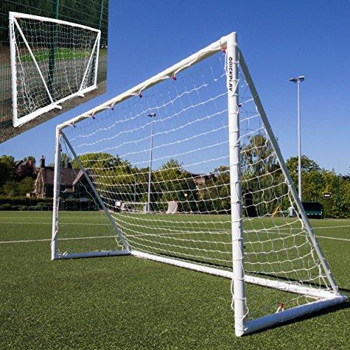 QUICKPLAY Q-Fold   Das Faltbare, innerhalb von 30 Sekunden aufstellbare Fußballtor für den Garten [Einzeltor] wetterfeste Fußballnetz für Kinder und Erwachsene - 2 Jahre GARANTIE 2018