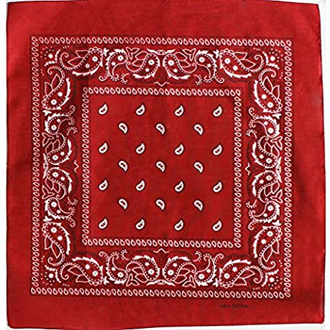 Bandana with original Paisley pattern in red