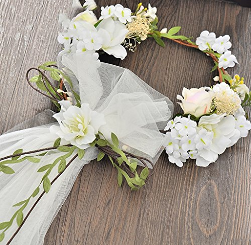 CRR Flower wreath Bridal headdress Veil wreath Wedding photo studio Photo hair flower hair accessories Dress accessories