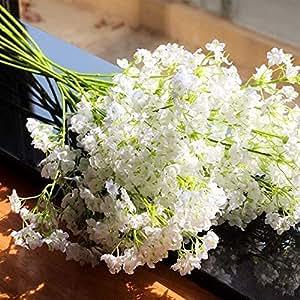 HOMMINI Fleurs Gypsophile Artificielle, 20 Pièces Fleurs de Décoration, Bouquet de Fleurs pour Mariage, la Soirée, la Maison et Le Café