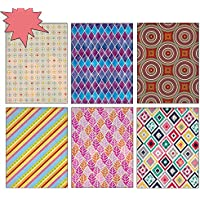 Birthday or All Occasion Gift Wrap Wrapping Paper with Geometric Patterns for Men, Women, Boys, Girls, Kids 6... preisvergleich bei billige-tabletten.eu