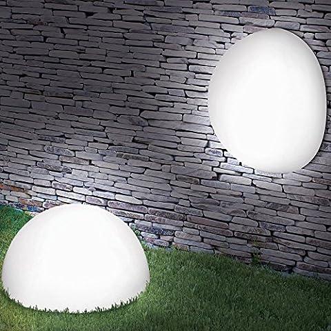 ProBache - Lampe demi-boule 20 cm 4 leds solaires