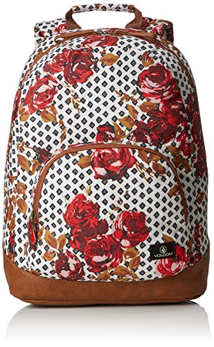 Volcom Damen Rucksack Schoolyard Backpack Blood Red, 30 x 43 x 15 cm, 19 Liter -