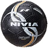 #3: Nivia Street Rubber Football, Size 5 (Black)