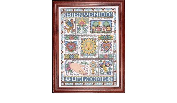 "Design Works BIENVENIDO Welcome Counted Cross Stitch Kit 12/"" x 16/"" Joan Elliot"