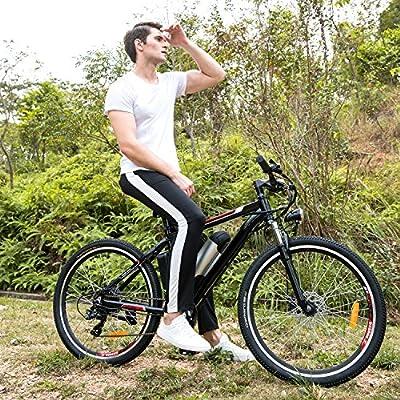 Smibie Elektrofahrrad 26 Zoll E- Bike Mountainbike, 25-50km/h Meilen Kilometerstand, 36V 8AH Abnehmbarer Akku and 21 Gang Getriebe