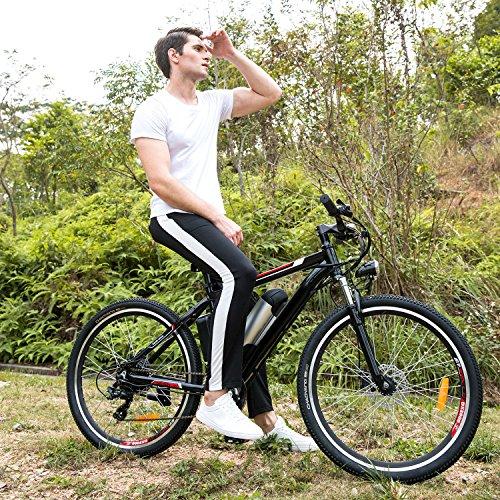 Yuebo Elektrofahrrad Mountainbike, 25-50CM E-Bike Pedelec mit Shimano 21-Gang, 36V 8AH Abnehmbarer Lithium-Akku mit 26 Zoll