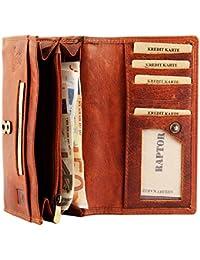 c9b1ba022e000 Raptor Damen Geldbörse aus Echtleder. Format 17 x 9 cm