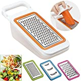 Cooko Vegetable Slicer,Multifunction Grater Set,Mandolin Vegetable Cutter Best for Carrot, Cheese, Cucumber, Onions, Tomato and Zucchini , Interchangeable 4 Sharp Stainless Steel Blades- Grater, Shredder, Julienne and Zester