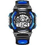 VICVIO Orologio Bambino Sportivo Impermeabile LED Digitale con Cronometro Allarme per Ragazzi 4~12 anni e Bambini Blu/Rosa
