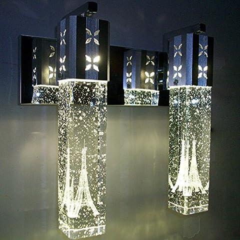 XiangMing Minimalista moderno testa doppia bolla pilastro di cristallo lampade da parete soggiorno ristorante camera da letto letto lampada da parete , luci rosse di bolle