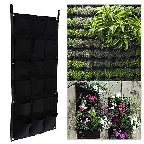 Pinjeer 18 Bolsillos macetas de jardín Verticales macetas Colgantes Maceta de Pared Verde y Maceta 50cm * 100cm