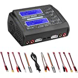 ZHITING Cargador LiPo Descargador Dual AC150W DC240W 10A C240 1-6S Duo Balance Cargadores de batería para Li-Ion Life NiCd Ni