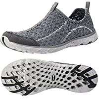 ALEADER Men's Mesh Slip On Water Shoes Dark Gray 10 D(M) US