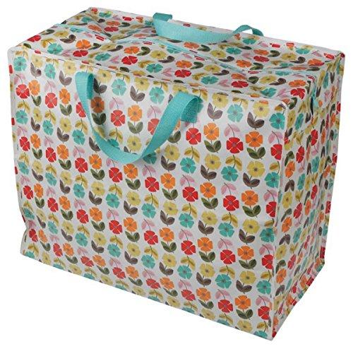 LS Design XXL Jumbo Bag Einkaufstasche Shopper Riesentasche Tasche Allzwecktasche recycled Blume (Blumen-bett In Einem Beutel)