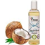 Huile de massage Verana, Coco, Huile cosmétique naturelle pour le corps, Pour tous types de peau, Massage rajeunissant et rev