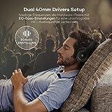 TaoTronics Bluetooth Kopfhörer Over Ear Headset mit leichtem Rückstellschaum Ohrpolster & Dual 40mm Treiber, 15 Stunden Spielzeit, EQ Bass, 3,5 mm AUX, On-Ear Steuerung - 3