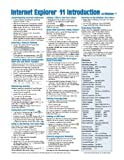 Image de Internet Explorer 11 for Windows 7 Quick Reference Guide (Cheat Sheet of Instructions, Tips & Shortcuts - Laminated Card) by Beezix Inc. (2014) Pamphl