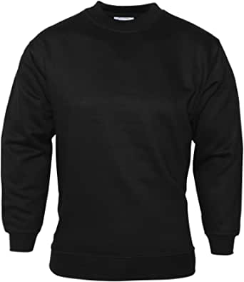 Click4Fashions Mens Plain Round Neck Sweatshirt Includes Big Plus Sizes