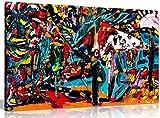 Multi Farbige Ölgemälde Abstrakt Bild auf Leinwand Druck, A0 91x61cm (36x24in)