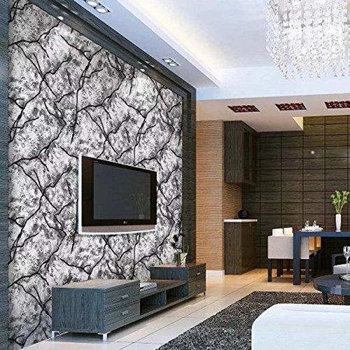 3D Tapete modernen minimalistischen dreidimensionalen Streifen Deerskin Vliestapete Wand Hintergrund Kaufen Sie drei Get One Free ( Color : Gray )