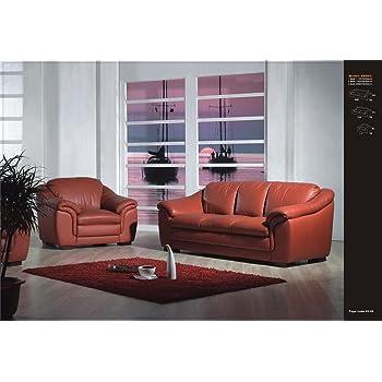 Design Voll Leder Sofa Ledergarnitur Polstermöbel Sessel