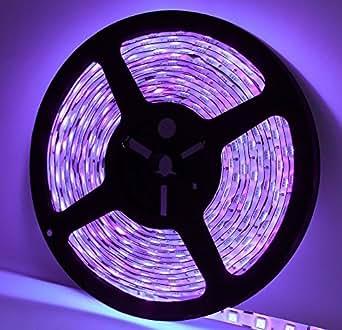 Led UV lumière noire Corst® 4,9m/5m 3528étanche rayons ultraviolets UV LED strip light avec 2A Puissance