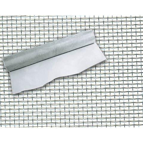 Maurer 1190020 - Rete Zanzariera In Alluminio Extra 18X14 Mm Altezza H: 60Cm Rotolo 30 Mt