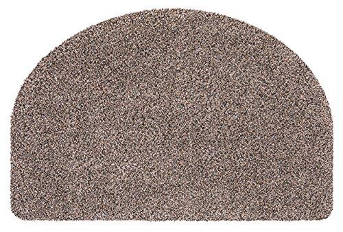andiamo 700636 Fußmatte Samson / Halbrunde Sauberlaufmatte aus Baumwolle in Granit / Schmutzmatte mit rutschhemmendem Rücken / 1 x Türmatte (50 x 75 cm)